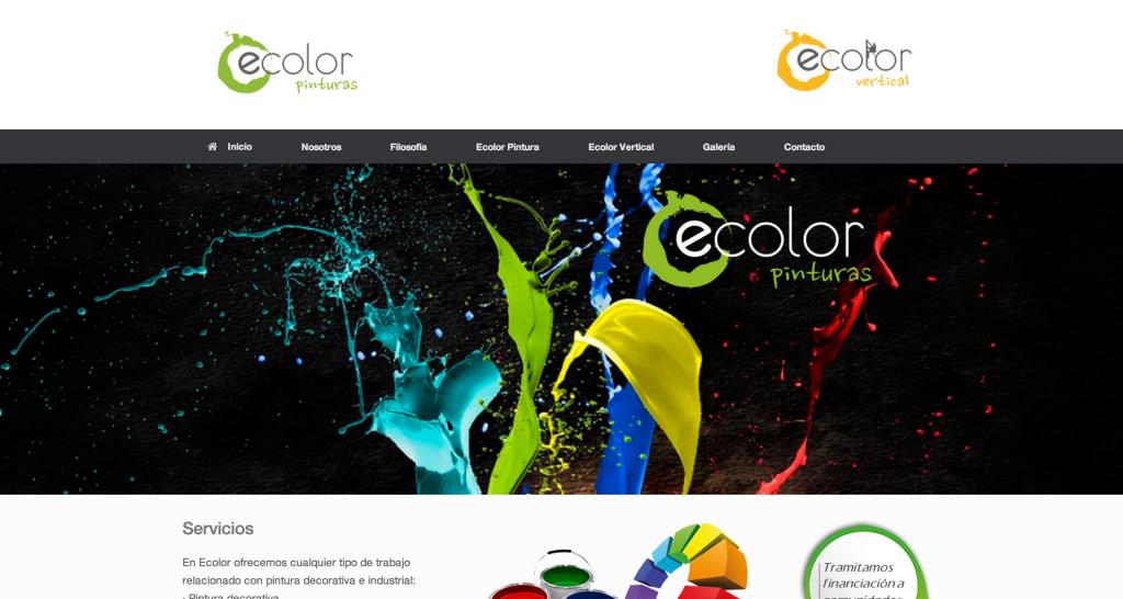 Estrenamos web, www.ecolorpintura.com